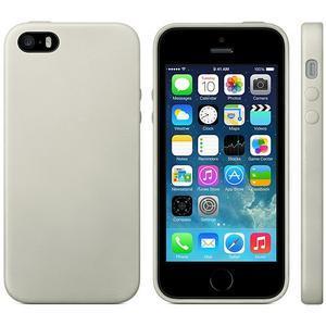 Gelový obal s texturou na iPhone 5 a 5s - šedý - 2