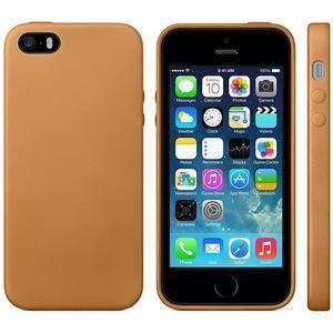 Gelový obal s texturou na iPhone 5 a 5s - oranžový - 2