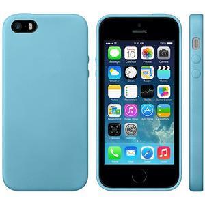 Gelový obal s texturou na iPhone 5 a 5s - modrý - 2