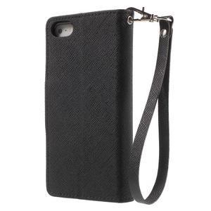 Dvoubarevné peněženkové pouzdro na iPhone 5 a 5s - černé/ černé - 2