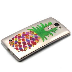 Průhledný gelový obal na LG G4c - ananas - 2