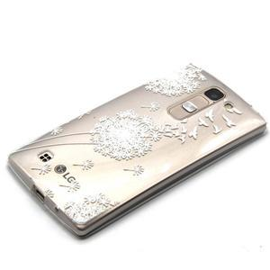 Průhledný gelový obal na LG G4c - bílá pampeliška - 2