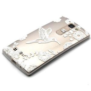 Průhledný gelový obal na LG G4c - ptáček - 2