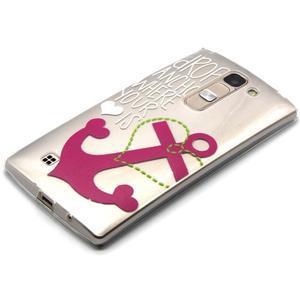 Průhledný gelový obal na LG G4c - kotva - 2