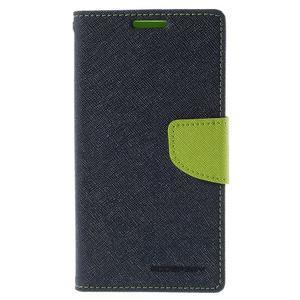 Diary PU kožené pouzdro na LG G4c - tmavěmodré - 2