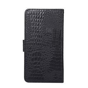 Croco PU kožené univerzálne puzdro na mobily do rozmeru 15,7 x 8 x1,8 cm - čierne - 2
