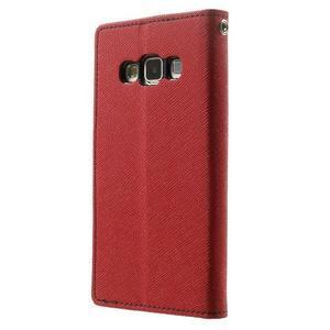 Diary PU kožené pouzdro na Samsung Galaxy A3 - červené - 2