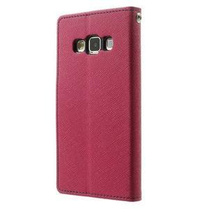 Diary PU kožené pouzdro na Samsung Galaxy A3 - rose - 2