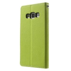 Diary PU kožené pouzdro na Samsung Galaxy A3 - zelené - 2