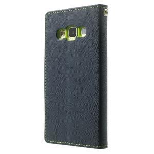 Diary PU kožené pouzdro na Samsung Galaxy A3 - tmavěmodré - 2