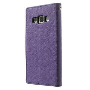 Diary PU kožené pouzdro na Samsung Galaxy A3 - fialové - 2