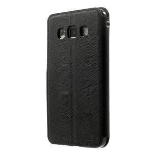 Roar peněženkové pouzdro s okýnkem na Samsung Galaxy A3 - černé - 2