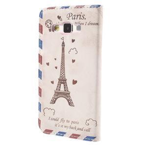 Pouzdro na mobil Samsung Galaxy A3 - Eiffelova věž - 2