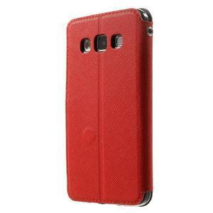 Roar peněženkové pouzdro s okýnkem na Samsung Galaxy A3 - červené - 2