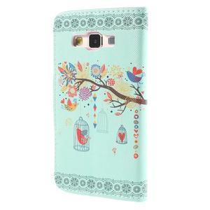 Pouzdro na mobil Samsung Galaxy A3 - ptáček v kleci - 2