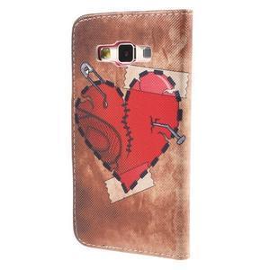 Pouzdro na mobil Samsung Galaxy A3 - červené srdíčko - 2