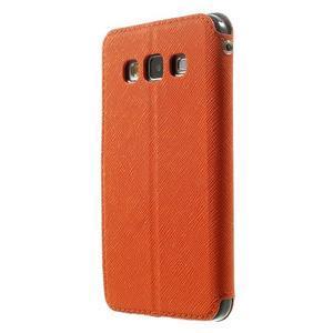 Roar peněženkové pouzdro s okýnkem na Samsung Galaxy A3 - oranžové - 2