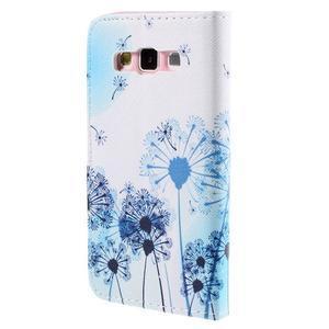 Peněženkové pouzdro na Samsung Galaxy A3 - modré pampelišky - 2