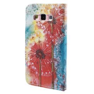 Peněženkové pouzdro na Samsung Galaxy A3 - malované pampelišky - 2