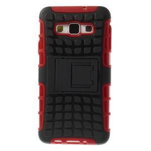 Outdoor odolný kryt na mobil Samsung Galaxy A3 - červený - 2