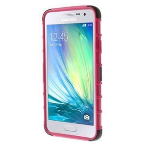 Outdoor odolný kryt na mobil Samsung Galaxy A3 - rose - 2