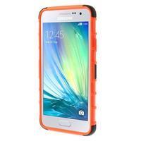 Outdoor odolný kryt na mobil Samsung Galaxy A3 - oranžový - 2/7