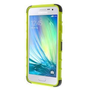 Outdoor odolný kryt na mobil Samsung Galaxy A3 - zelený - 2