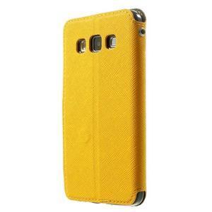 Roar peněženkové pouzdro s okýnkem na Samsung Galaxy A3 - žluté - 2