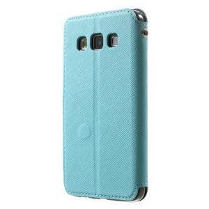 Roar peněženkové pouzdro s okýnkem na Samsung Galaxy A3 - světlemodré - 2