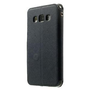 Roar peněženkové pouzdro s okýnkem na Samsung Galaxy A3 - tmavěmodré - 2