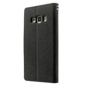 Diary PU kožené pouzdro na Samsung Galaxy A3 - černé - 2