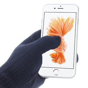Gloves dotykové rukavice na mobil - tmavěmodré - 2