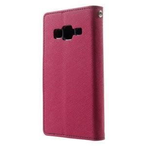 Fancy PU kožené pouzdro na Samsung Galaxy Core Prime - rose - 2