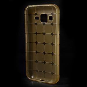 Square matný gelový obal na Samsung Galaxy Core Prime - champagne - 2