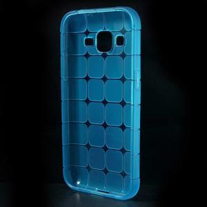 Square matný gelový obal na Samsung Galaxy Core Prime - modrý - 2