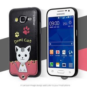 Kočička Domi obal na mobil Samsung Galaxy Core Prime - černý - 2