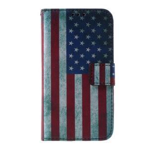 Pouzdro na mobil Samsung Galaxy Core Prime - US vlajka - 2