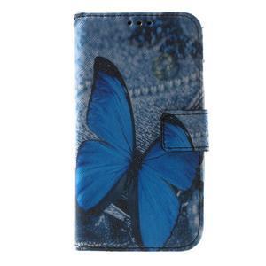 Pouzdro na mobil Samsung Galaxy Core Prime - modrý motýl - 2