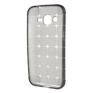Square matný gelový obal na Samsung Galaxy Core Prime - šedý - 2