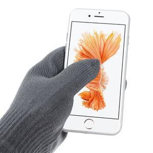 Gloves dotykové rukavice na mobil - tmavěšedé - 2
