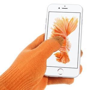 Gloves dotykové rukavice na mobil - oranžové - 2