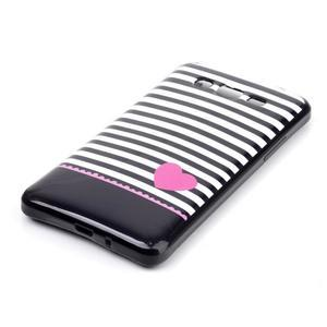 Jelly gelový obal na mobil Samsung Galaxy Grand Prime - srdce - 2