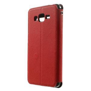 Safety pouzdro s okýnkem pro Samsung Galaxy Grand Prime - červené - 2
