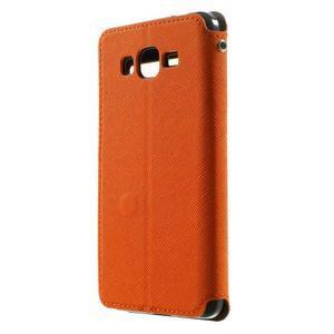 Safety pouzdro s okýnkem pro Samsung Galaxy Grand Prime - oranžové - 2