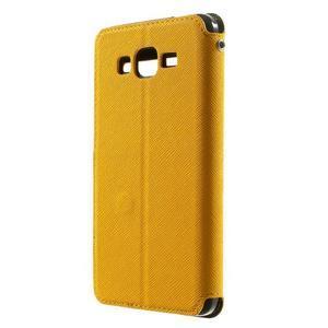 Safety pouzdro s okýnkem pro Samsung Galaxy Grand Prime - žluté - 2