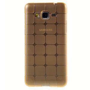 Square gelový obal na Samsung Galaxy Grand Prime - zlaté - 2