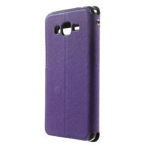 Safety pouzdro s okýnkem pro Samsung Galaxy Grand Prime - fialové - 2
