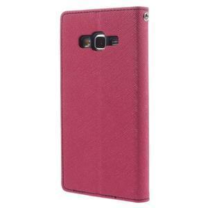 Diary PU kožené pouzdro na mobil Samsung Galaxy Grand Prime - rose - 2