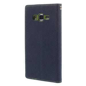Diary PU kožené pouzdro na mobil Samsung Galaxy Grand Prime - tmavěmodré - 2