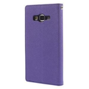 Diary PU kožené pouzdro na mobil Samsung Galaxy Grand Prime - fialové - 2